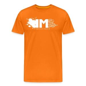 Immersive Tee - White Full on Orange - Men's Premium T-Shirt