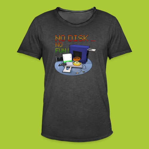 No Disk - No Fun - DIGITAL - Männer Vintage T-Shirt