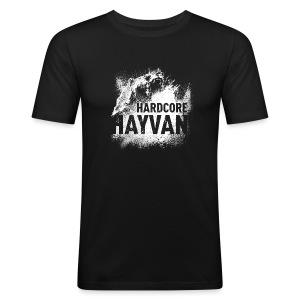 Herren SlimFit Shirt Hayvan - Männer Slim Fit T-Shirt
