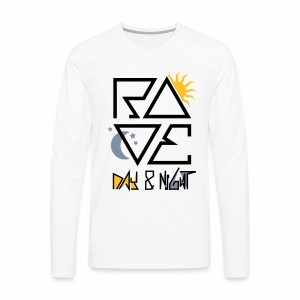 RAVE Day & Night V2 - langarm Shirt - Männer Premium Langarmshirt