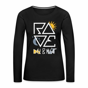 RAVE Day & Night V2 - langarm Shirt - Frauen Premium Langarmshirt