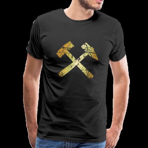 Schlägel und Eisen Bergmannszeichen Antik Gold