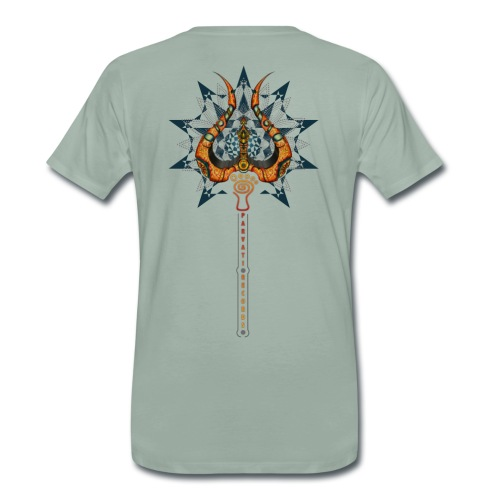 Parvati Trishula by Rusty PsyFly  - Men's Premium T-Shirt