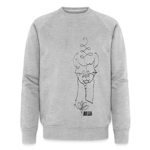 Lama Namaste - Männer Bio-Sweatshirt von Stanley & Stella