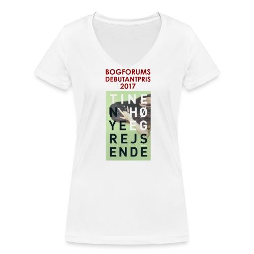 NYE REJSENDE af Tine Høeg - Økologisk Stanley & Stella T-shirt med V-udskæring til damer