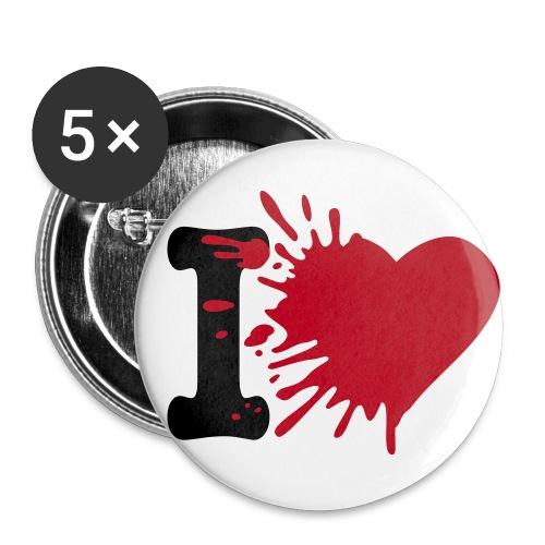Badge iDeAl - Lot de 5 petits badges (25 mm)