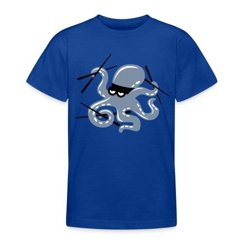 Octopuss Argent Mat - T-shirt Ado