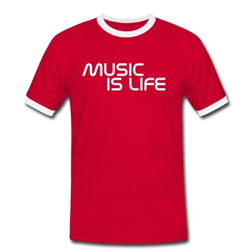 music is life - Maglietta Contrast da uomo