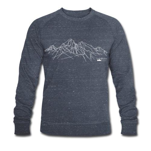 Sweatshirt Gebirge Herren (logo hell) - Männer Bio-Sweatshirt von Stanley & Stella