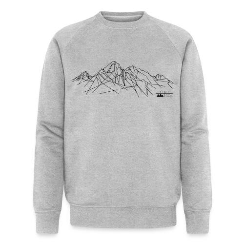 Sweatshirt Gebirge Herren (Logo dunkel) - Männer Bio-Sweatshirt von Stanley & Stella
