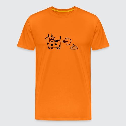 kuh-air-code - Männer Premium T-Shirt
