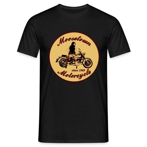 Moosetown Motorcycle | Biker T-Shirt - Männer T-Shirt