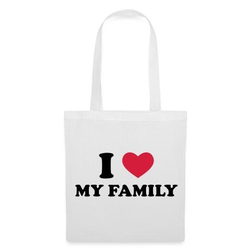I love my Family tote Bag - Tote Bag