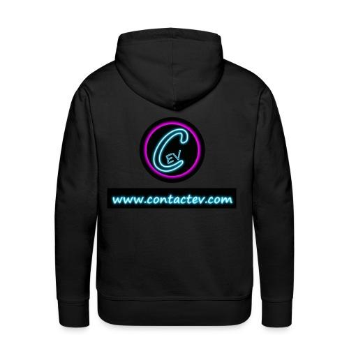 Sweat  Contactev.com - Sweat-shirt à capuche Premium pour hommes