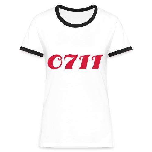 0711 - Frauen Kontrast-T-Shirt