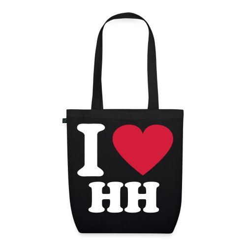 'I Love HH' Eco-friendly Tote Bag - EarthPositive Tote Bag