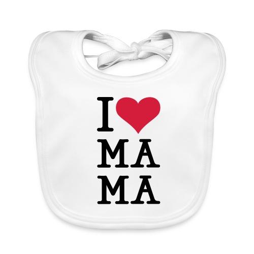 I love Ma Ma Bib - Baby Organic Bib