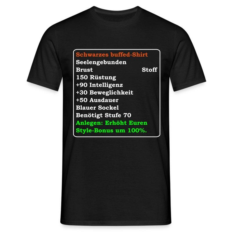 buffed_schwarzes_shirt_100 - Männer T-Shirt