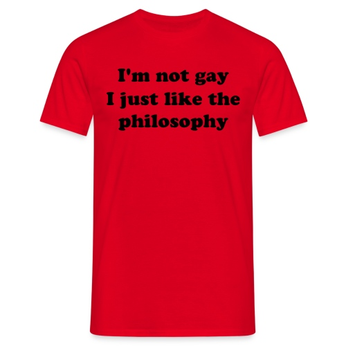 I'm not gay- - T-skjorte for menn