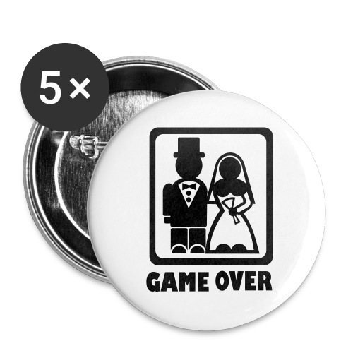 Game Over Anstecker - Buttons groß 56 mm