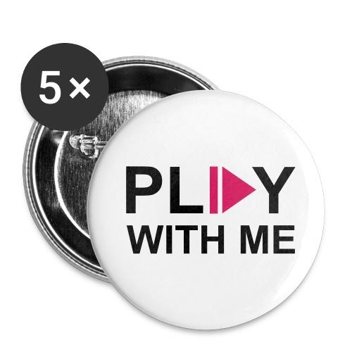 5 Chapas Play with me - Paquete de 5 chapas pequeñas (25 mm)