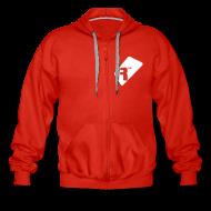 Hoodies & Sweatshirts ~ Men's Premium Hooded Jacket ~ Men's Zip Up Hoodie - White Renoise Tag