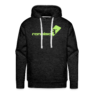 Hoodies & Sweatshirts ~ Men's Premium Hoodie ~ Men's Hoodie - Light Green Renoise Logo