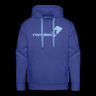 Hoodies & Sweatshirts ~ Men's Premium Hoodie ~ Men's Hoodie - Light Blue Renoise Logo