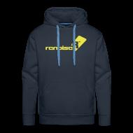 Hoodies & Sweatshirts ~ Men's Premium Hoodie ~ Men's Hoodie - Yellow Renoise Logo