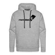 Hoodies & Sweatshirts ~ Men's Premium Hoodie ~ Men's Hoodie - Black Renoise Logo