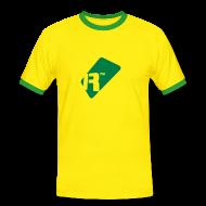 T-Shirts ~ Men's Ringer Shirt ~ Men's Contrast T-Shirt - Green Renoise Tag