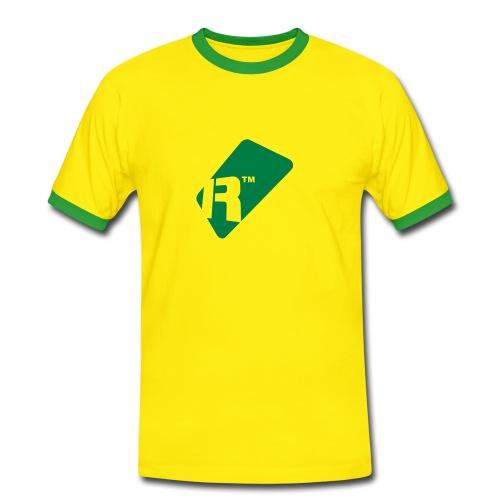 Men's Contrast T-Shirt - Green Renoise Tag - Men's Ringer Shirt