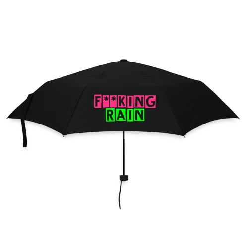 Purple Umbrella f**king rain - Umbrella (small)