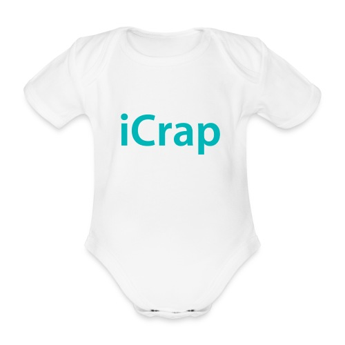 iCrap. Everywhere, all the time - Baby bio-rompertje met korte mouwen
