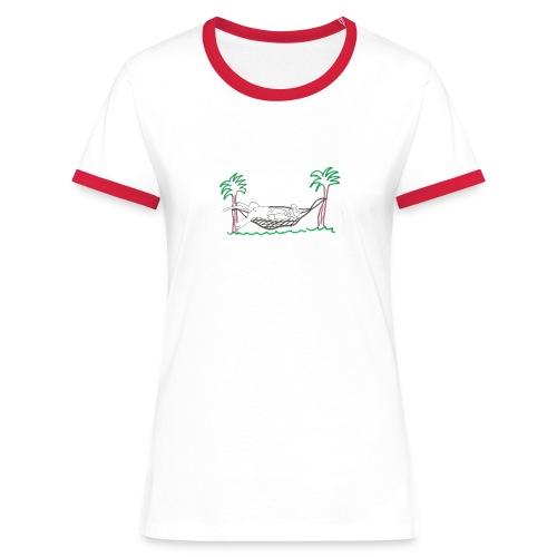TEE-SHIRT BLC RGE HOMME MA P'TITE SOURIS DANS HAMAC - T-shirt contrasté Femme