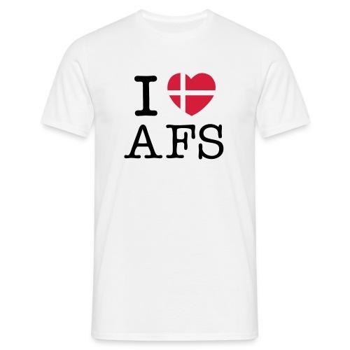 Hvid herre I Love AFS - Herre-T-shirt
