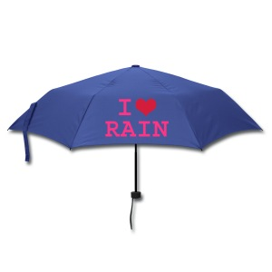 Blue Scotland Umbrella I love rain - Umbrella (small)