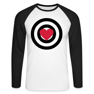 HEART TARGET - Men's Long Sleeve Baseball T-Shirt