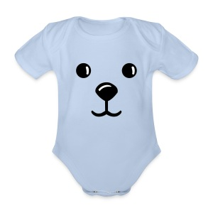 TED FACE - Organic Short-sleeved Baby Bodysuit