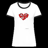 T-Shirts ~ Frauen Kontrast-T-Shirt ~ Ein Herz für Amrum