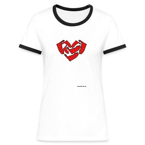 Ein Herz für Amrum - Frauen Kontrast-T-Shirt