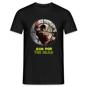 Aim For The Head - Mens Tee. - Men's T-Shirt