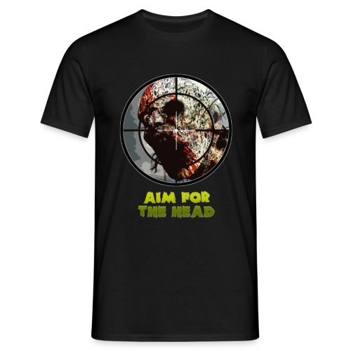 Aim For The Head - Mens Tee. - Men's T-Shirt
