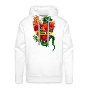Passion Love - Tatoo Drache / Herz Flammen / Dragon in the Fire Heart Tattoo Männer Kapuzenpullover - Männer Premium Hoodie