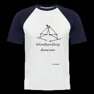 T-Shirts ~ Männer Baseball-T-Shirt ~ Windsurfing Amrum Kontrast Shirt