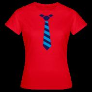 T-shirts ~ Vrouwen T-shirt ~ Stropdas streep blauw