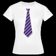 T-shirts ~ Vrouwen T-shirt ~ Stropdas streep paars