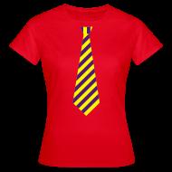T-shirts ~ Vrouwen T-shirt ~ Stropdas streep geel