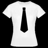 T-shirts ~ Vrouwen T-shirt ~ Stropdas zwart