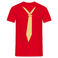 T-shirts ~ Mannen T-shirt ~ Stropdas nonchalant creme